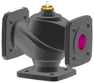 3-way flanged valve, PN 6 (pn.)