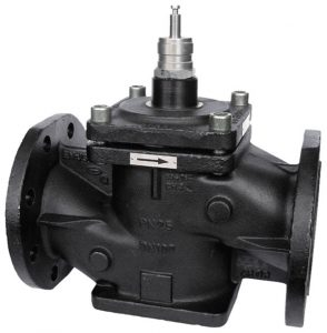 Pressure-relieved 2-way flanged valve, PN 25 (pn.)